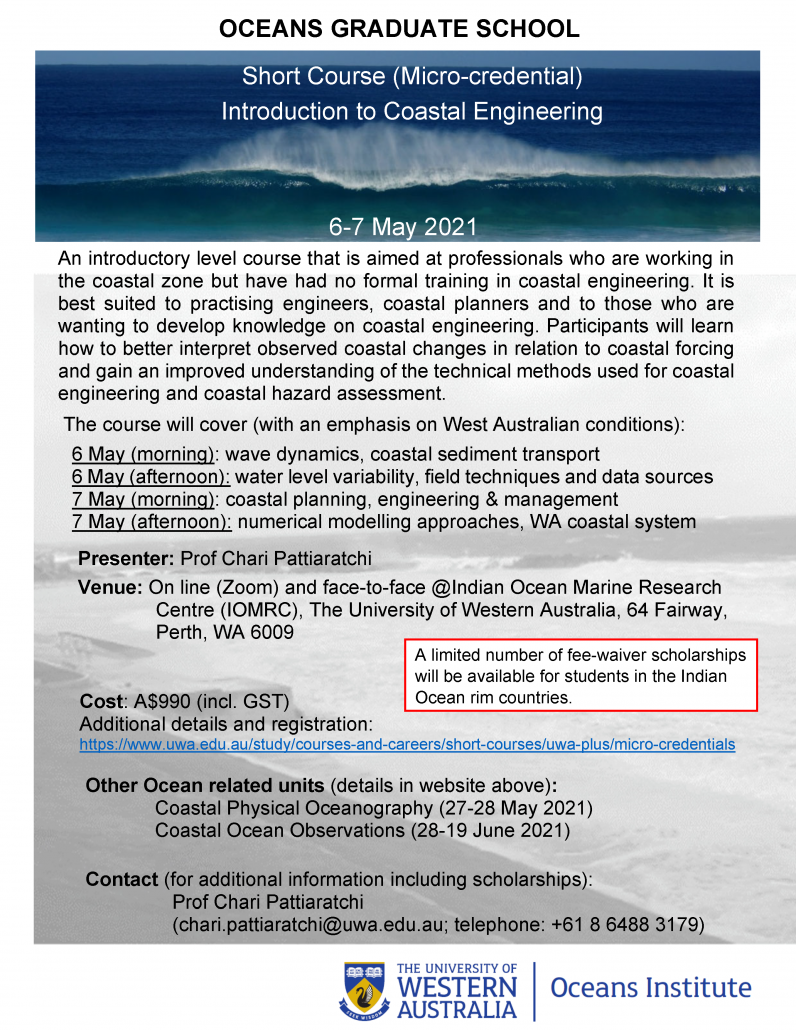 Short Course - Introduction to Coastal Engineering